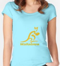 The Wallabies Rugby Women's Fitted Scoop T-Shirt