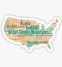 List all 59 National Parks Sticker