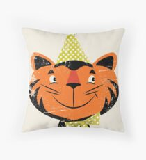 Festive Felid Throw Pillow