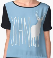 John Deer Women's Chiffon Top