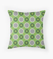 PANTONE COLOUR OF THE YEAR 2017|GREENERY CIRCLES OF GREENERY Throw Pillow