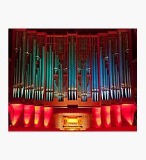 Christchurch Town Hall pipe organ Photographic Print