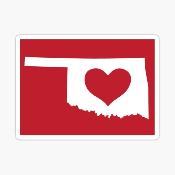 Oklahoma Love Sticker