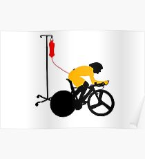 Cyclist Blood Doping Poster
