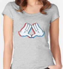 Stereoscopic swag hand Women's Fitted Scoop T-Shirt