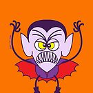 Scary Halloween Dracula Emoticon by Zoo-co
