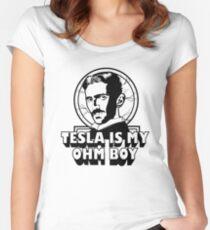 Tesla Is My Ohm Boy Women's Fitted Scoop T-Shirt