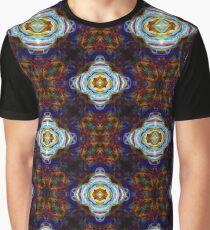 Dark Rainbow Burst Abstract Psychedelic Graphic T-Shirt