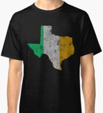 Irish Flag Texas Outline Map Classic T-Shirt