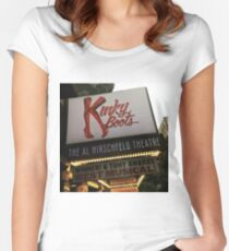 Kinky Boots Marquee Women's Fitted Scoop T-Shirt