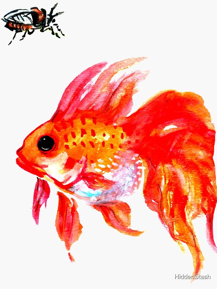 Cicada and Goldfish by HiddenStash