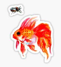 Cicada and Goldfish Sticker