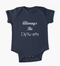 Always Be Different One Piece - Short Sleeve