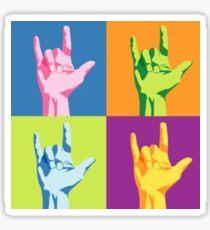 ASL-I Love You Sign Sticker