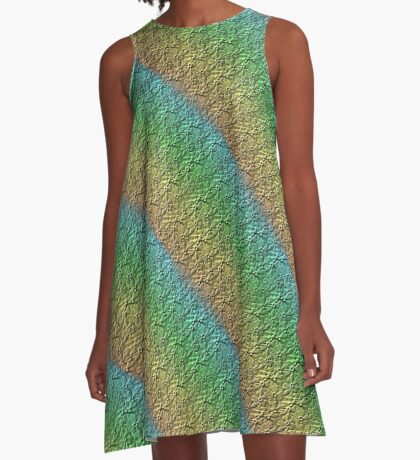 Rainbow Flowers Design A-Line Dress
