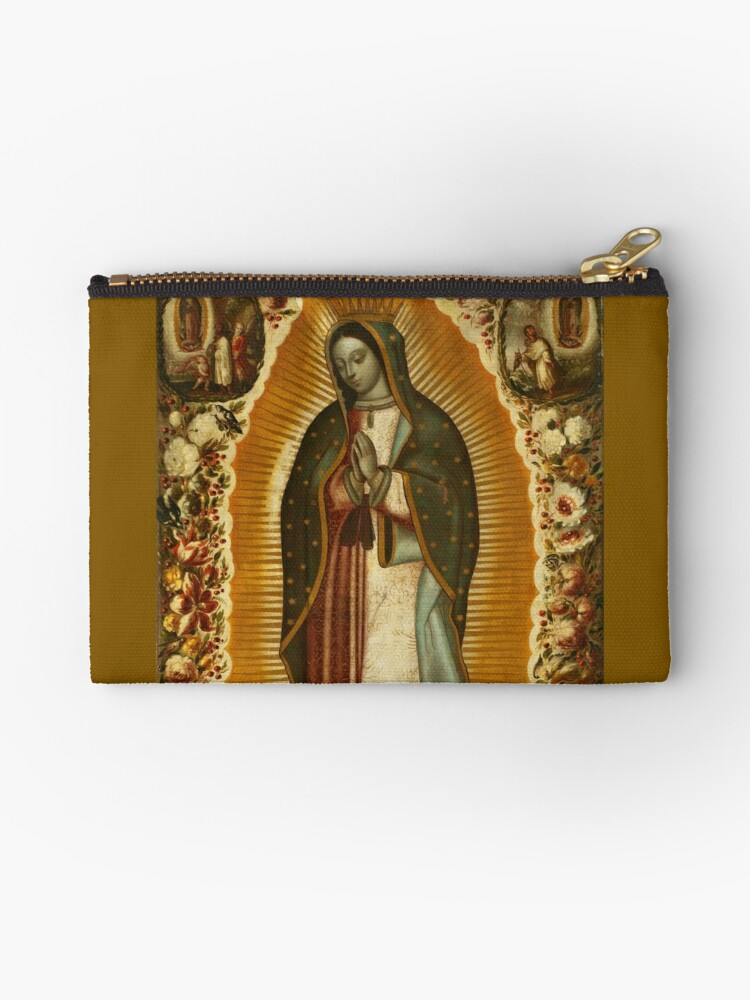 Icon of Our Lady of Guadalupe Zippered Purse Virgin of Guadalupe Tapestry Bag