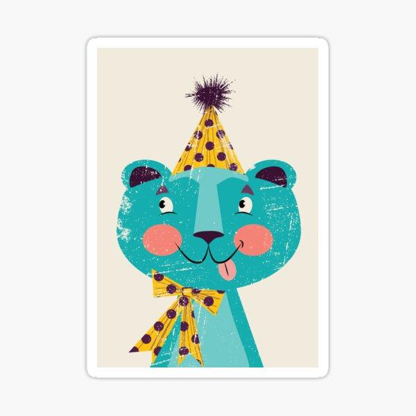 Blue-beary Sticker