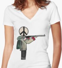 War or Peace Women's Fitted V-Neck T-Shirt