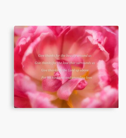 Give Thanks For Beauty Canvas Print