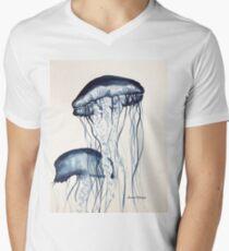 Jellyfish T-Shirt mit V-Ausschnitt