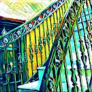 New Orleans Vintage Iron Spindles Staircase  by hilda74