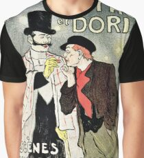 Vintage French impressionism singers ad Mothu and Doria Graphic T-Shirt