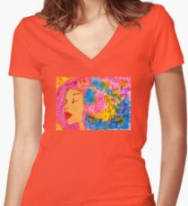 Fionas Art Women's Fitted V-Neck T-Shirt