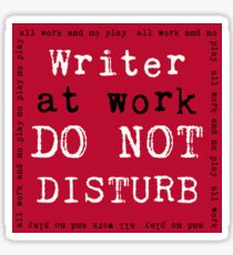 Writer at Work Sticker