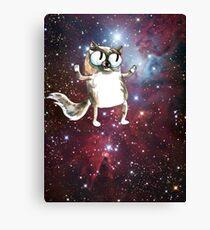 cosmic cartoon cat Canvas Print