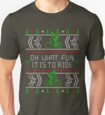 Biking Oh What Fun Cycling Bike Ugly Christmas Sweater Unisex T-Shirt