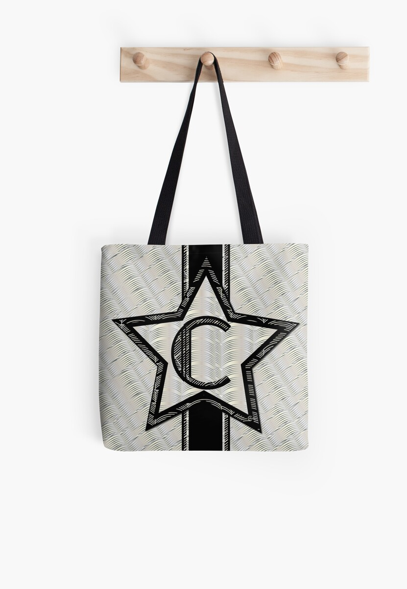 STAR of SHOW art deco monogram C by CecelyBloom