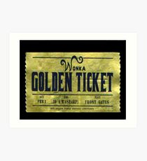 willy wonka golden ticket Art Print