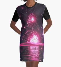 SCATTERBRAIN Graphic T-Shirt Dress