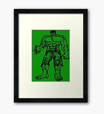 Incredible Hulk Digital Artwork Framed Print