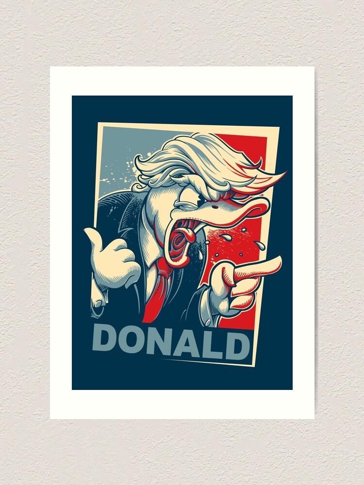 Alternate view of Donald Art Print