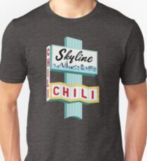 Cincinnati Skyline Chili Ludlow Ave Sign Unisex T-Shirt