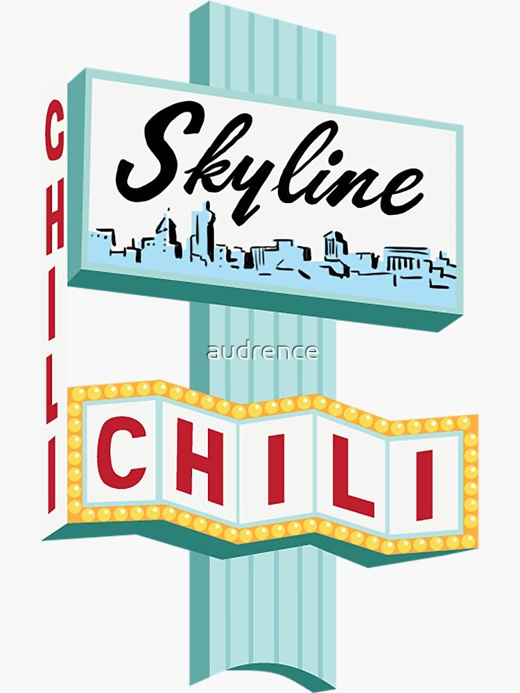 Signo de Cincinnati Skyline Chili Ludlow Ave de audrence