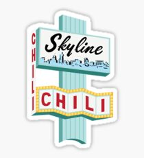 Cincinnati Skyline Chili Ludlow Ave Sign Sticker