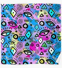 Tribal Pattern Hippy Shake Poster