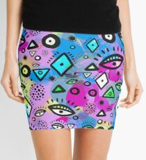 Tribal Pattern Hippy Shake Mini Skirt