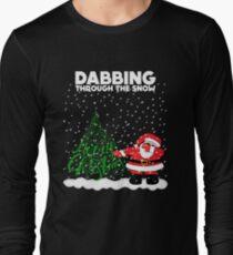 Cute Funny Dabbing Through the Snow Long Sleeve T-Shirt