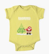 Cute Funny Dabbing Through the Snow One Piece - Short Sleeve