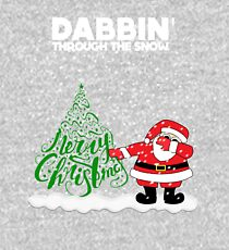 Cute Funny Dabbin' Through the Snow Kids Pullover Hoodie