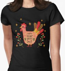 Chinese New Year Rooster - Happy New Year 2017 Women's Fitted T-Shirt