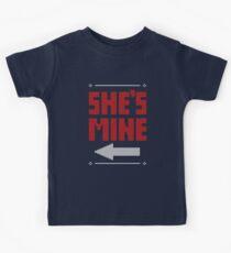 She's Mine He's Mine Matching Couple T-Shirts Kids Tee