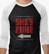 She's Mine He's Mine Matching Couple T-Shirts Men's Baseball ¾ T-Shirt