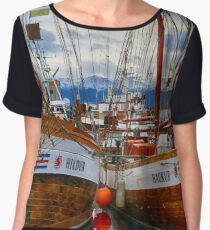 Schooners Hildur and Hauker Chiffon Top