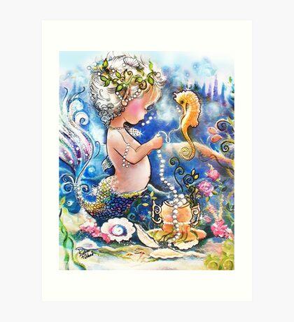 Baby's Strings of Pearls Art Print