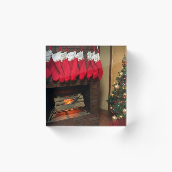 And The Stockings Were Hung By The Chimney With Care...... Acrylic Block