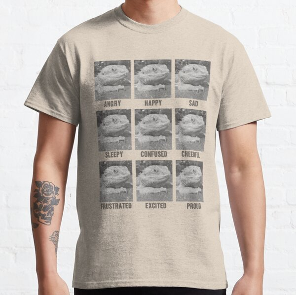 Emotions of a Bearded Dragon Classic T-Shirt